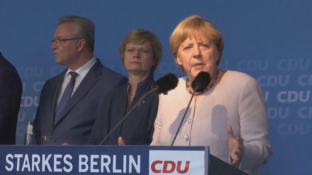 Berlin'de eyalet seçimleri öncesi tahminler: Merkel'in partisi düşüşte