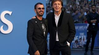 "McCartney e Ringo Starr: reunion sul ""blue carpet"" di Ron Howard"