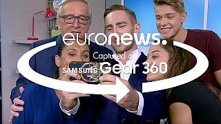 360° videó: Az élő Juncker-interjú színfalai mögött