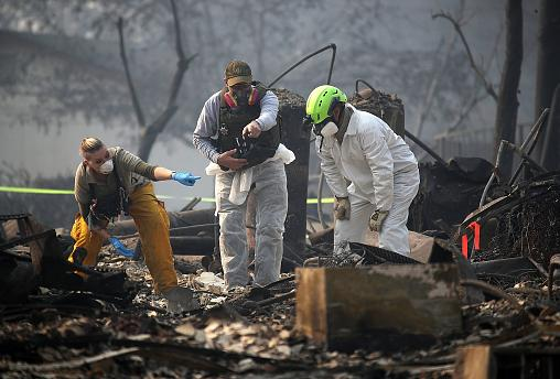 Image: California Town Of Paradise Devastated By The Camp Fire Continues Se
