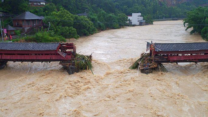 El supertifón Meranti deja un panorama desolador en el sudeste de China