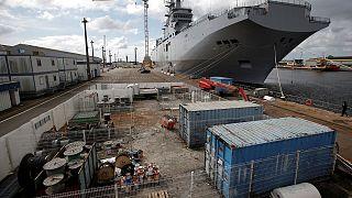 Francia entrega a Egipto el segundo de los portahelicópteros Mistral que inicialmente estaban destinados a Rusia