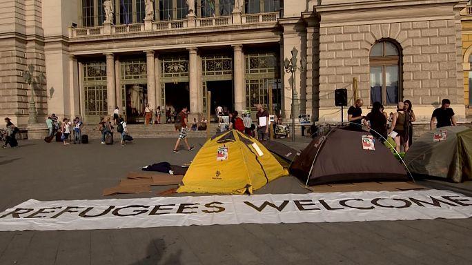 Flashmob a menekültekért Budapesten