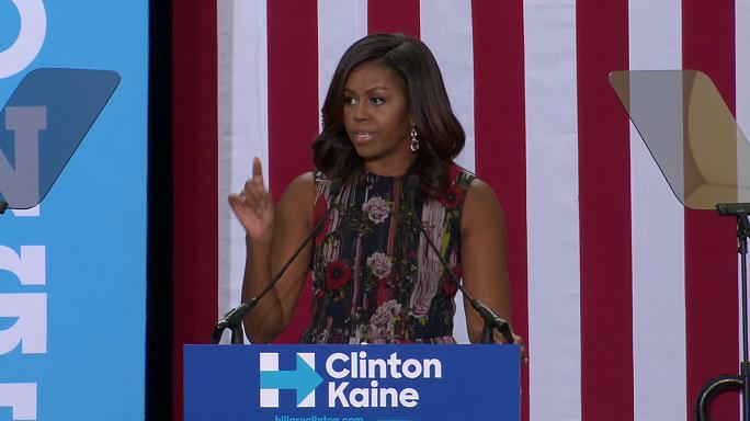 Michelle Obama intenta captar el voto joven para Hillary Clinton