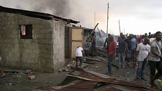 Nigeria: Fire destroys police barracks