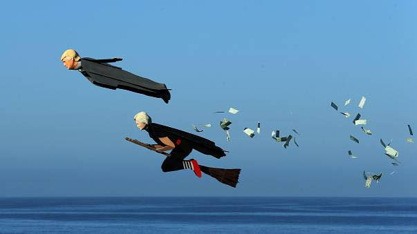 Trump and Clinton as model aeroplanes
