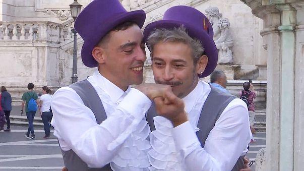 Rome hosts its first same-sex civil union
