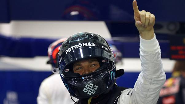 Singapore Grand Prix: Rosberg storms to pole position