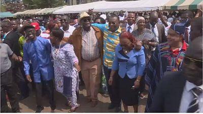 Rassemblement de l'opposition contre le référendum pour la nouvelle constitution en Côte d'Ivoire
