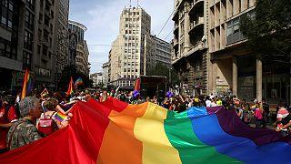Belgrade hosts gay pride march under heavy police presence