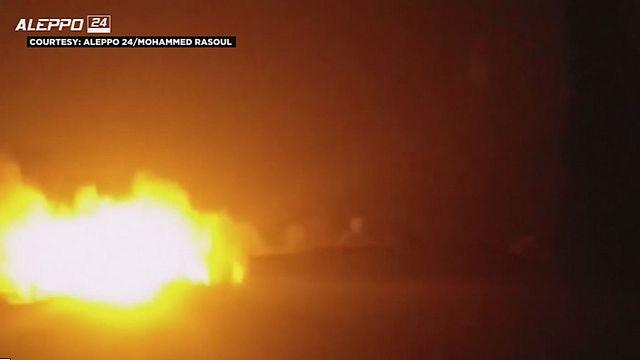 Halep'e insani yardım taşıyan konvoya saldırı