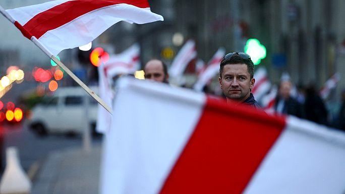 Ellenzékiek tüntettek Minszkben