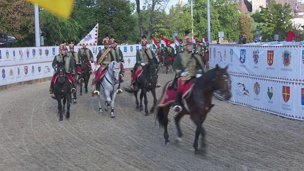 Macaristan Ulusal Koşusu Budapeşte'nın Kahramanlar Meydanı'nda düzenlendi