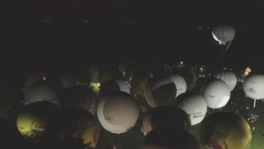 Hőlégballon-verseny Németországban