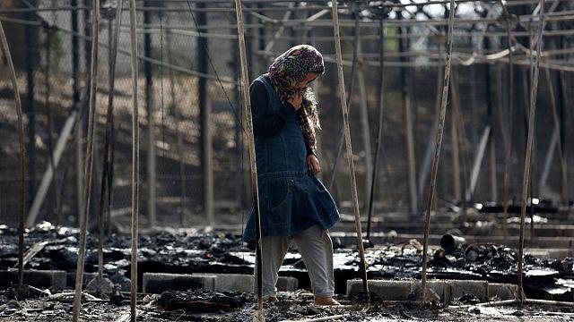 ليسبوس: حريق موريا قد يكون مفتعلاً