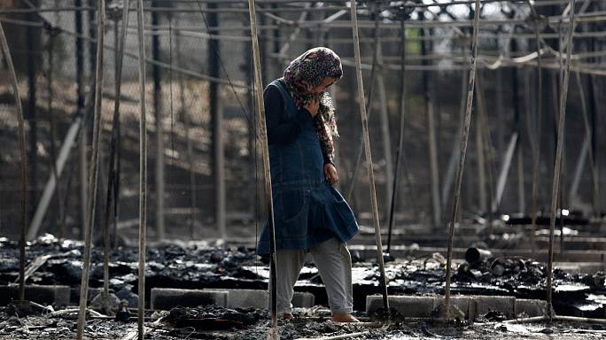 Leégett egy leszboszi menekülttábor