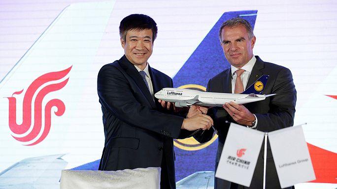 Lufthansa und China Air grüßen als Partner