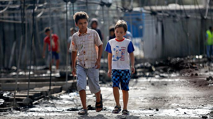 Alone and traumatised children arrive in Greece