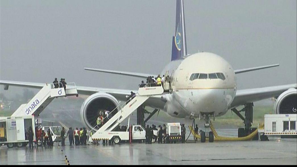 Ложная тревога об угоне самолета Saudi Arabian Airlines