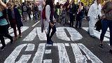 Tüntetés a szabadkereskedelmi egyezmény ellen