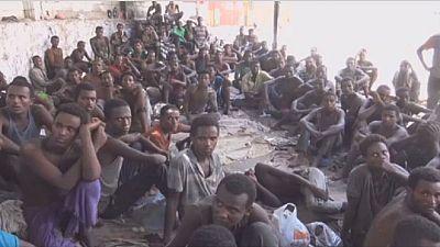 Illegal African migrants detained in Yemen