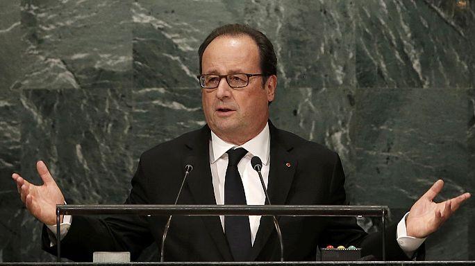 Президент Франции в ООН призвал союзников Сирии принудить режим Асада к миру