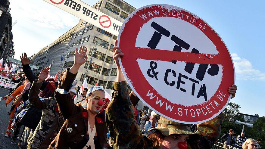 Demonstration gegen TTIP und CETA in Brüssel
