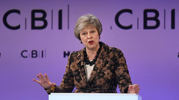 Image: Prime Minister Theresa May delivers speech at CBI Conference