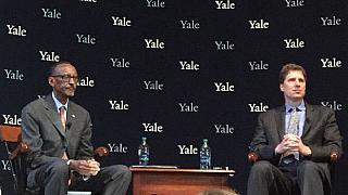 Rwanda's Paul Kagame talks tough at Yale despite human rights protests