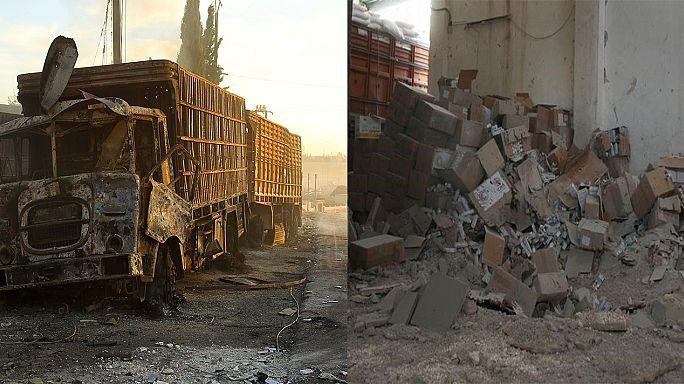 Támadás a segélyszállítmány ellen: Washington Moszkvára, Moszkva a terroristákra mutogat