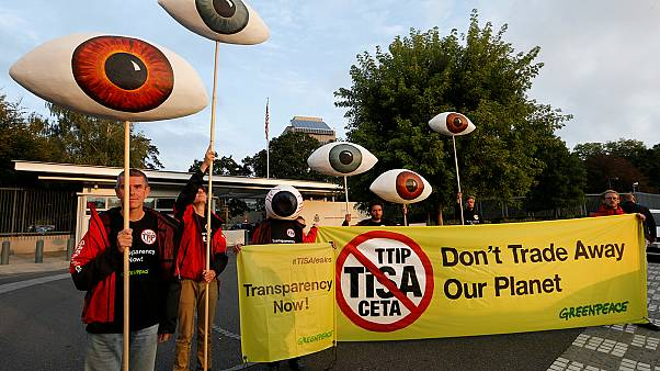 Greenpeace activists in Geneva slam TISA