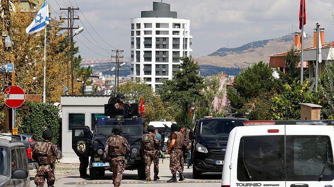 Késes támadó próbált bemenni Izrael ankarai nagykövetségére