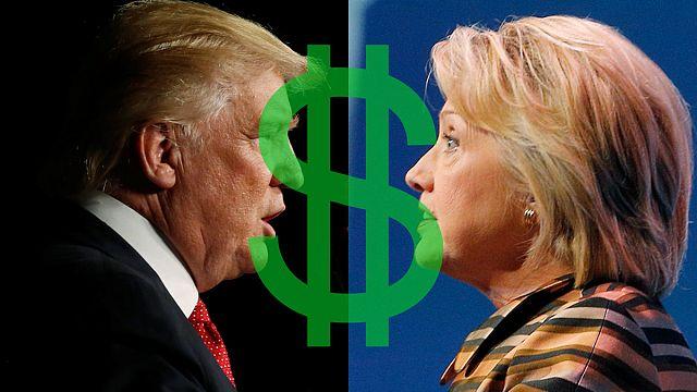 Клинтон vs Трамп: у кого больше денег на выборы?