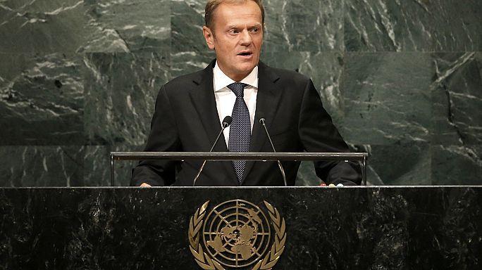 Нет роумингу в ЕС. Речь Туска в ООН. В мире 65 млн беженцев