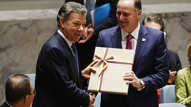 "Santos präsentiert vor UN-Vollversammlung ""neues"" Kolumbien"
