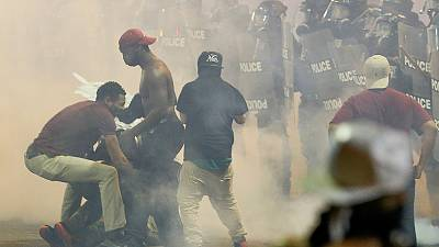 Un herido grave en la segunda noche consecutiva de protestas en Charlotte, EEUU