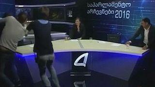 Géorgie : bagarre entre candidats aux législatives à la télévision