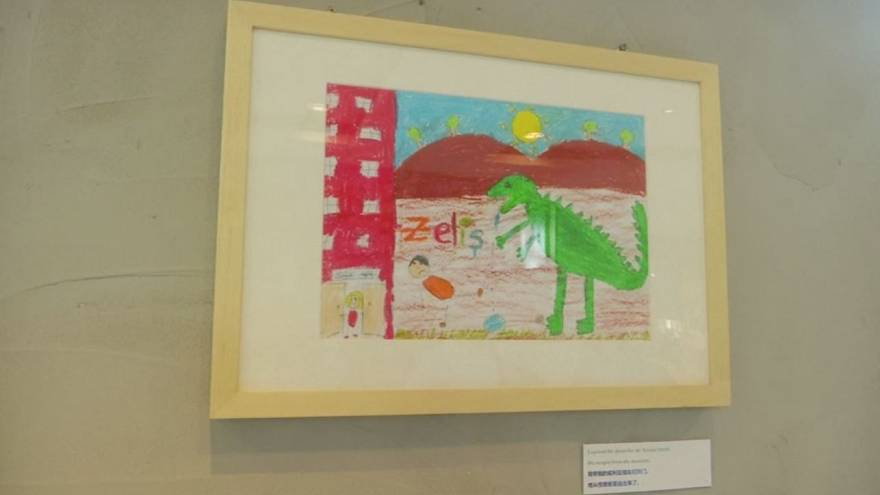Syrian children's paintings on display in Shanghai