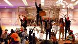 US protests turn violent as anger at police killings boils over