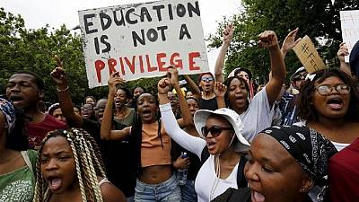 Student protests over fee hike continue in South Africa