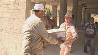 El Ejército ruso entrega cinco toneladas de ayuda humanitaria en un hospital de Homs