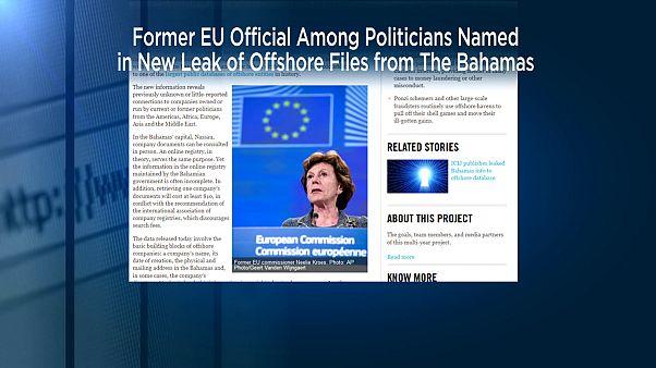 کمیسر پیشین اروپا مدیر یک شرکت تجاری در بهشت مالیاتی باهاماس بوده است