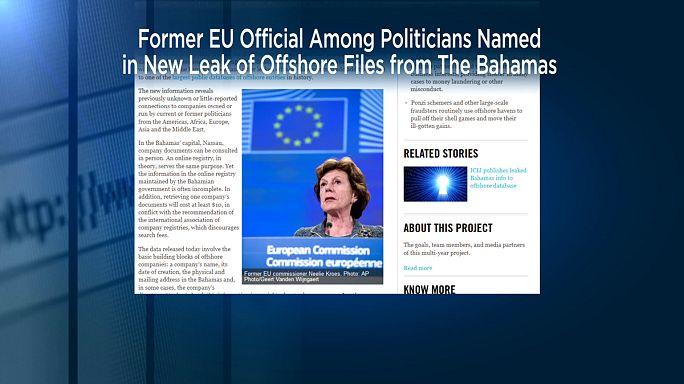 المفوضة الأوروبية السابقة نيللي كروز كانت مديرة لشركات تجارية اثناء توليها عملها في المفوضية السابقة.