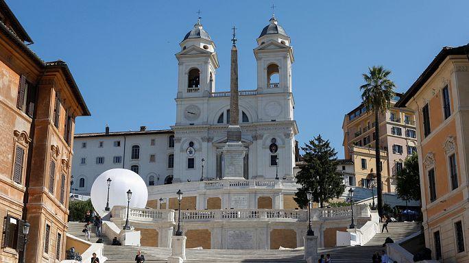 Átadták a felújított Spanyol lépcsőt Rómában
