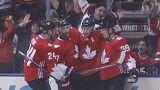 Hockey sur glace : le Canada surclasse l'Europe