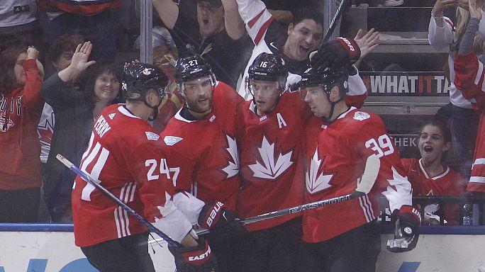 Hockey sul ghiaccio: il Canada domina l'Europa in coppa del mondo