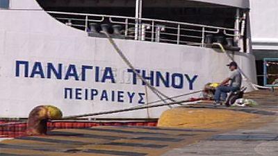Los ferris griegos se declaran en huelga