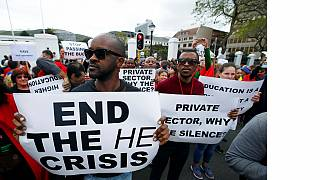 South African lecturers join students protests