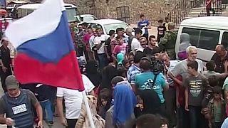 Syrie : l'armée russe distribue de l'aide humanitaire à al-Ashrafieh