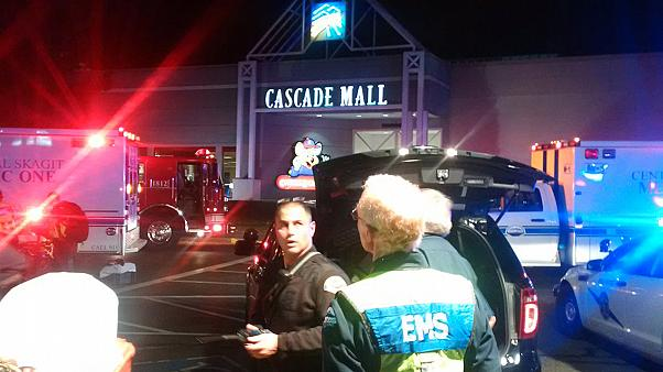 Manhunt for gunman who shot dead five people at US shopping mall